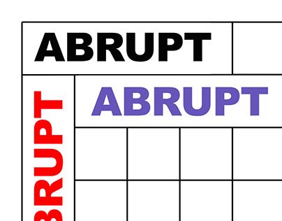 ABRUPT - poster&&&&&&&&&&!13145566
