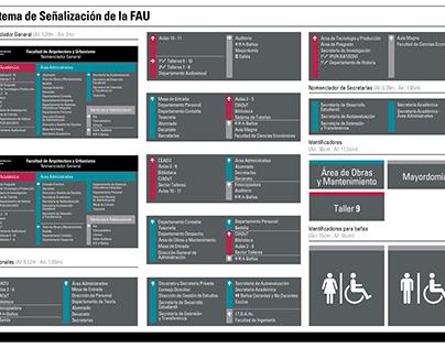 Sistema de Señalización de la FAU - UNNE