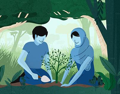 Planting Campaign Illustrations