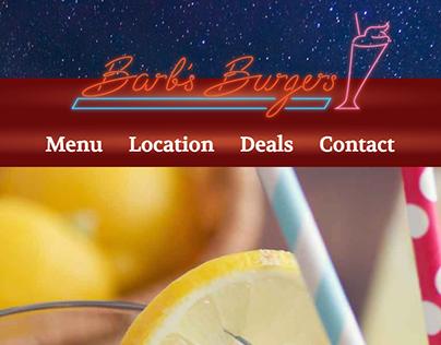 Barb's Burgers Website