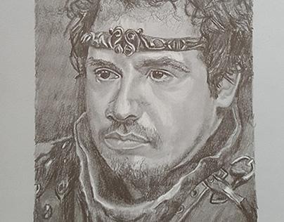 Le roi Arthur de la série Kaamelott