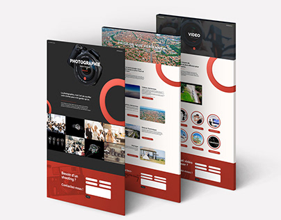 Website landing pages for a creative agency