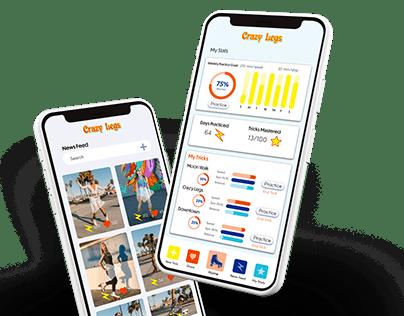 Crazy Legs Roller Skating App