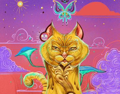 Lighted cat