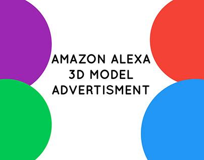 Amazon Alexa 3D Model Advertisment