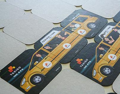 TAXIGO COMIC COASTERS