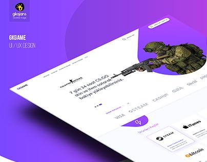 Game Store UI/UX Design