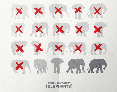 Design to Protect Elephants Poster