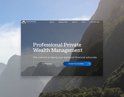 UX Web Design for Wealth Management Company