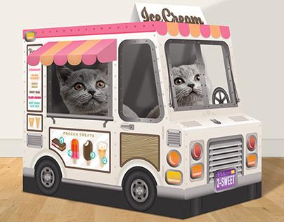 Cardboard cat trucks