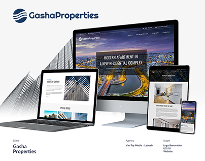 Gasha Properties UI/UX Design and Web Development