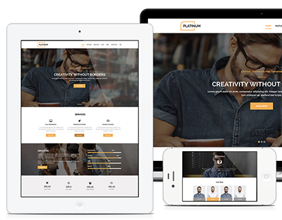 Platinum - One Page PSD Business Template