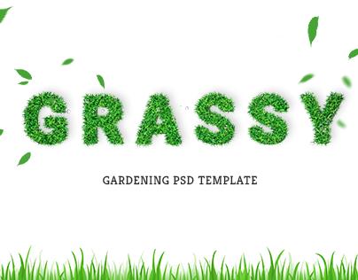 Grassy - Garden, Lawn, Landscaping PSD Template