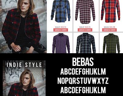 Publicidad y Edición fotográfica de ropa para Estacache