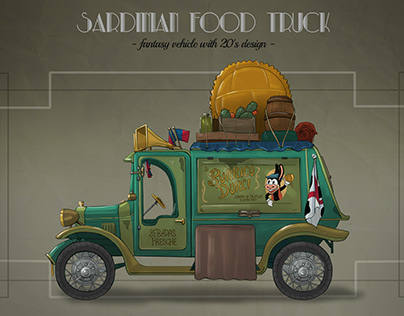 Sardinian food truck with 20's design