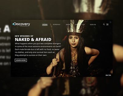 Naked and Afraid Website Concept