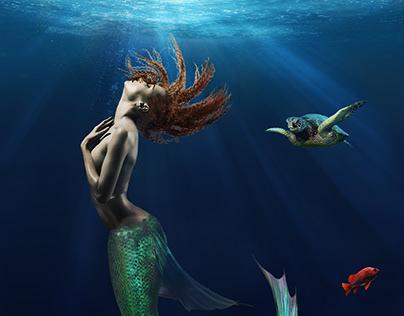 Mermaid Dreams - Composite Photograph Illustration