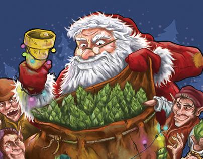 Wychwood Brewery - Santa's Goliath Sack Illustration