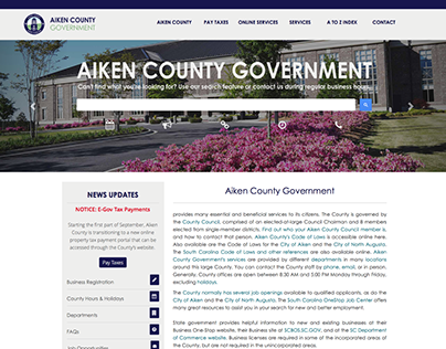 Responsive Government Websites (Bootstrap CSS)