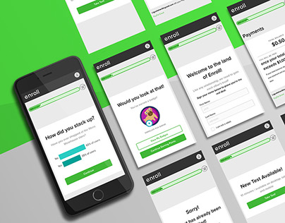 Enroll App Redesign | Design Intern Project with ZURB