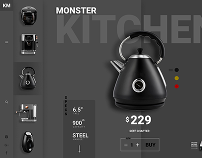 """MONSTER KITCHEN"" Web design"