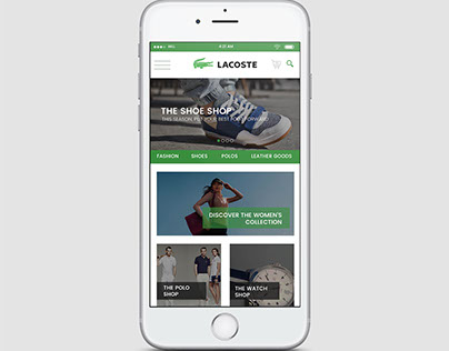 Concept Design for LACOSTE  onlinesShopping  app design
