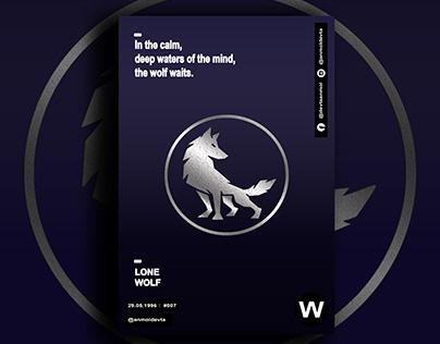 SILVER WOLF CARD BANNER