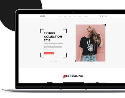 SOUIKA | Fashion shop web design