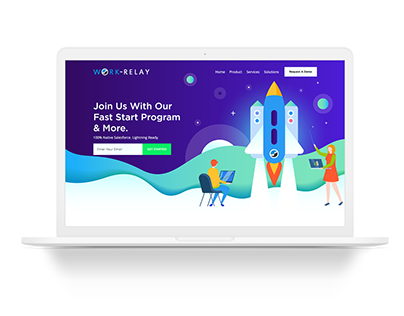 Work Relay - Technology Company Web Page Design