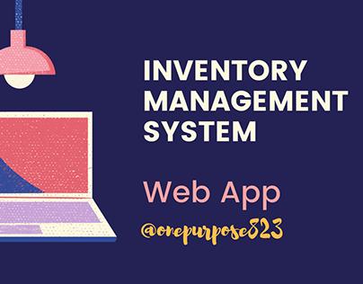 Inventory Management System (Web app)