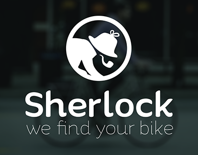 Sherlock - we find your bike, logo proposal + mascot