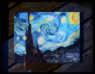 """Pencil drawing - """"Starry Night Reimagined"""""""