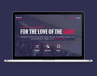 FanHoots Website Design
