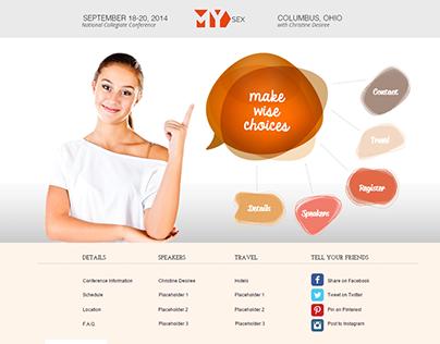 Professional Speaker Event Site - Custom Web Design