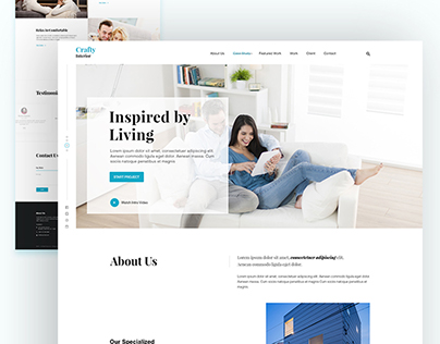 Crafty - Interior Landing page Design Concept