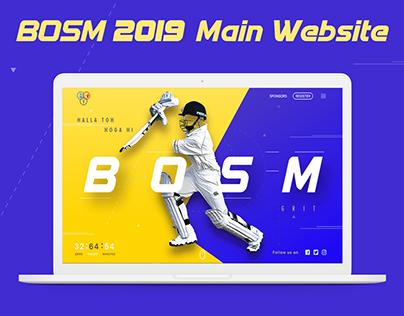 BOSM '19 Main Website