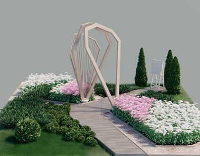 A garden visualization (project by Galina Fokicheva)