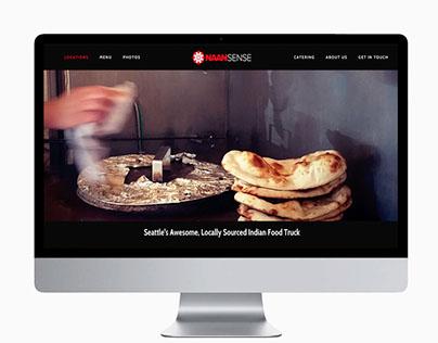 Naansense Food Truck Website