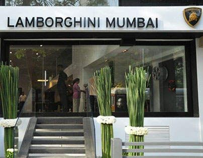 Set Design: Lamborghini Mumbai