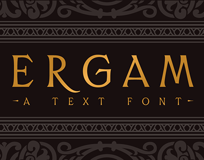 Ergam font