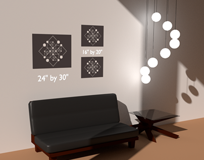 3D Models for Poster Sizes
