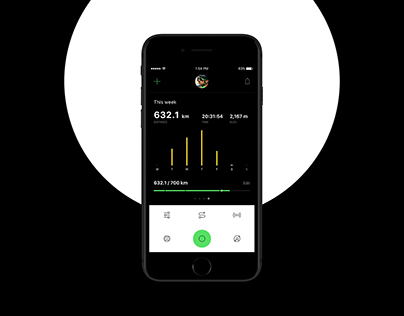 Katka. Redesigning cycling experience / iOS app