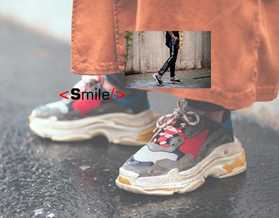 concept sneaker store - Smile