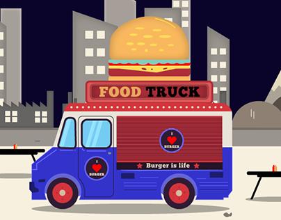 Illustration : Food truck
