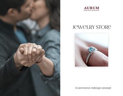 Jewelry store / E-commerce Redesign concept