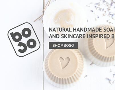 Boso Soap web design