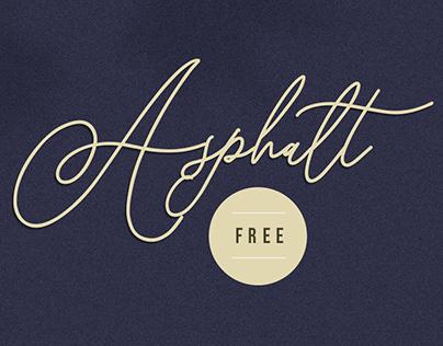 Asphalt Signature - Free Download Font
