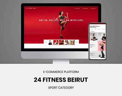 24 Fitness Beirut - Responsive