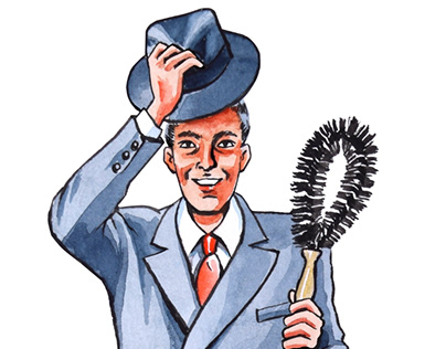 Fuller Brush Man illustration