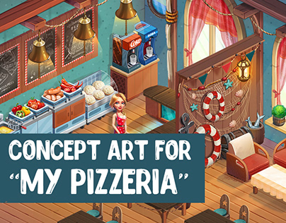 "Concept Art for ""My Pizzeria"""